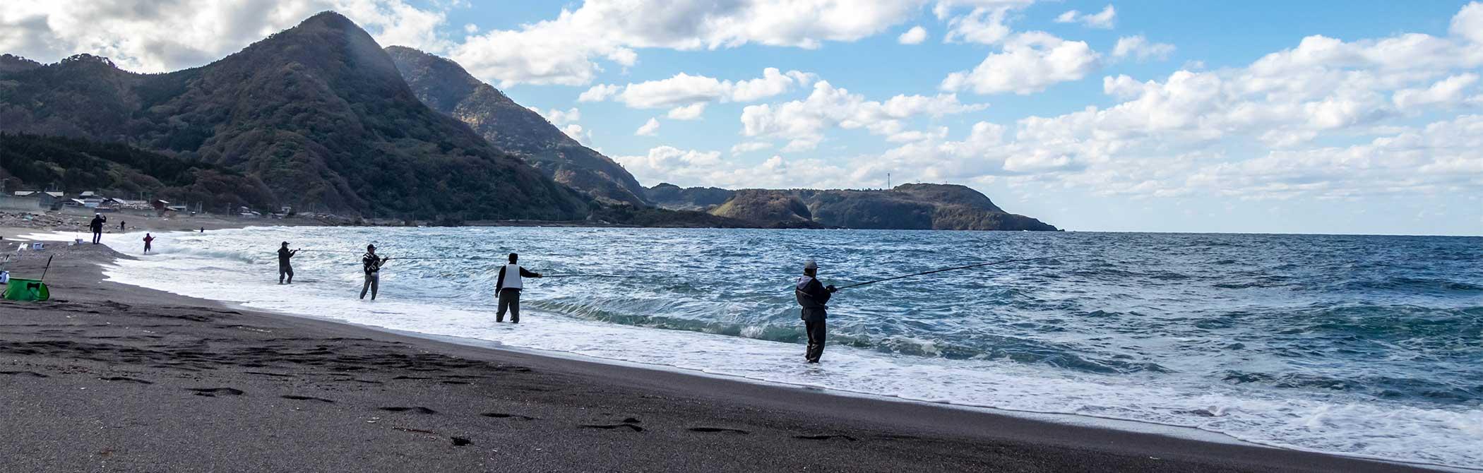 岩谷口海岸での釣り